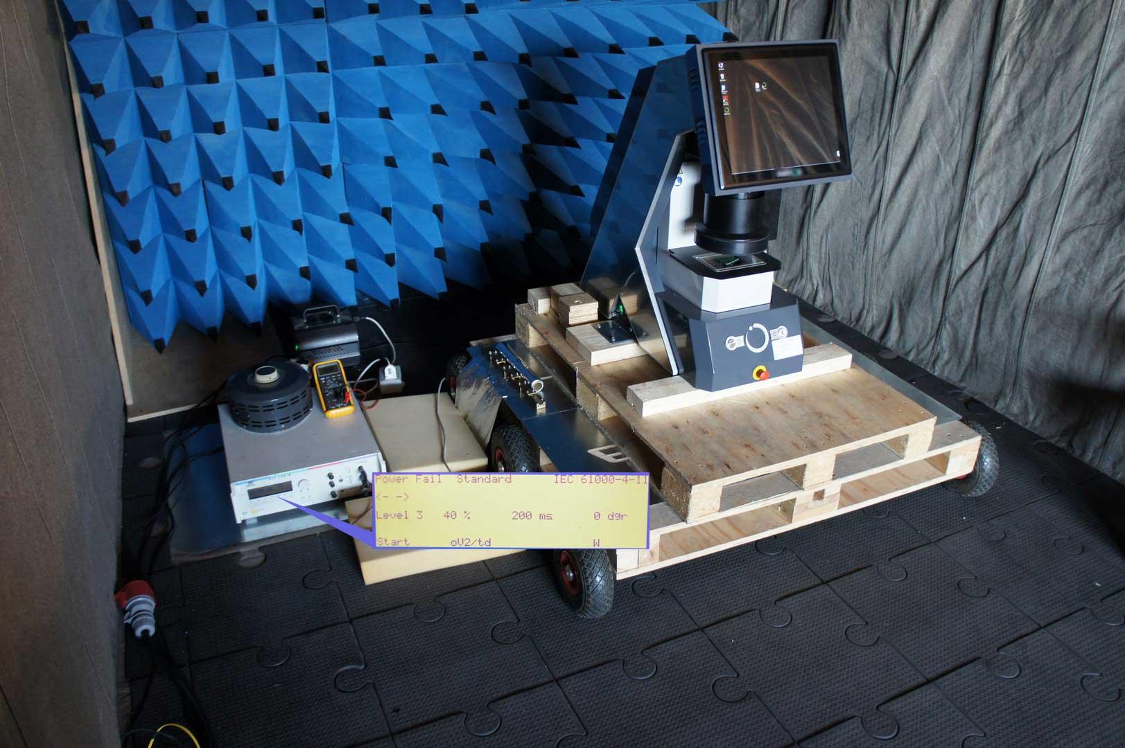 Prove di tensione e variazione di frequenza EN 50160