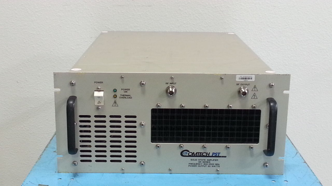 comtech-rd88258-50-linear-amplifier-800-to-2500mhz-50-watts-emc-61000-4-3-used-in-mint-conditions-0.jpg