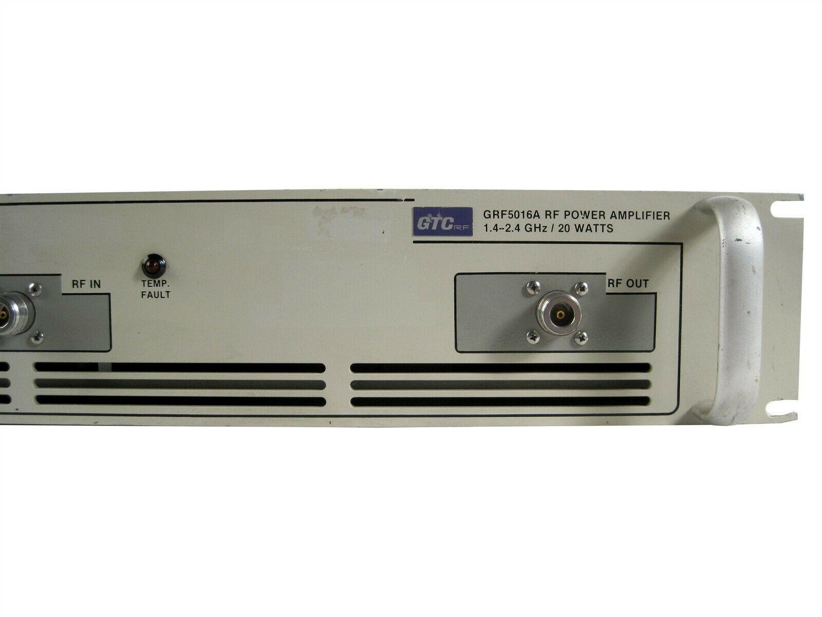 Details about GTC CORPORATION GRF5016A LINEAR RF POWER AMPLIFIER  1 4GHZ-2 4GHZ / 20 WATTS